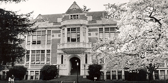 Savery Hall - black and white photo