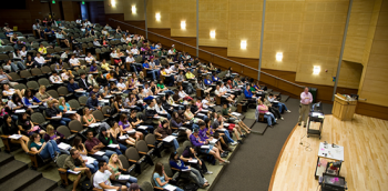Economics lecture in Kane Hall