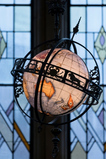 Globe in Suzzallo Reading Room